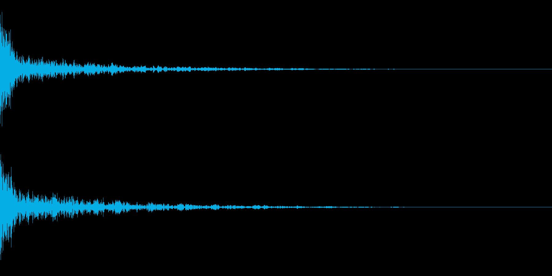 ドーン-41-1(インパクト音)の再生済みの波形