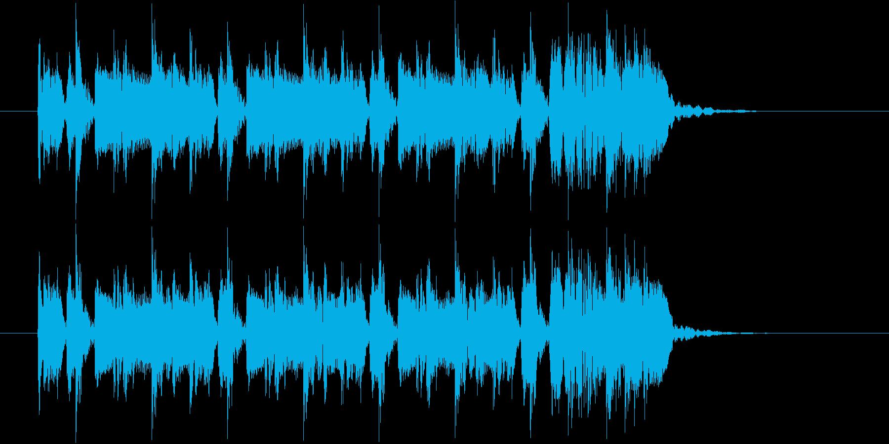 かわいらしくスピーディーな曲の再生済みの波形