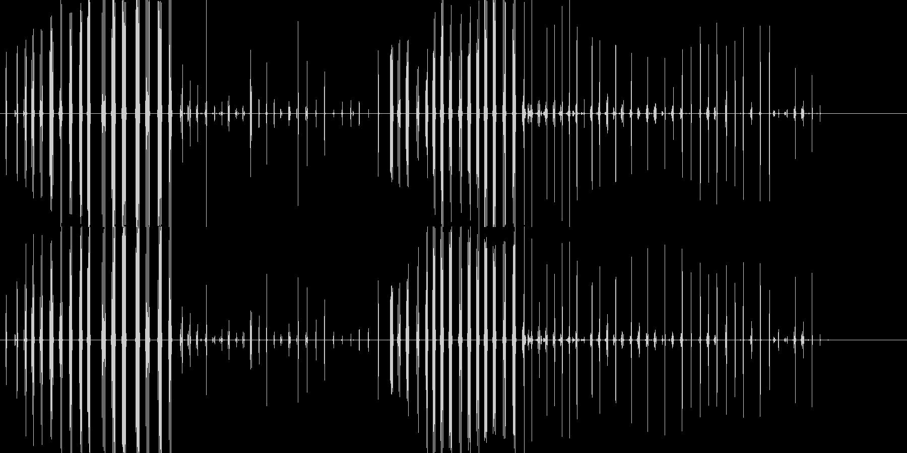 コオロギの鳴き声の未再生の波形