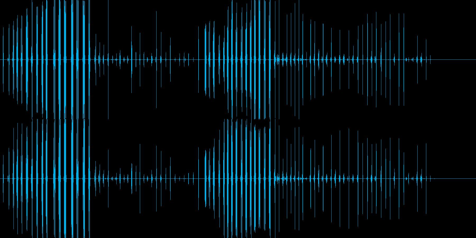 コオロギの鳴き声の再生済みの波形