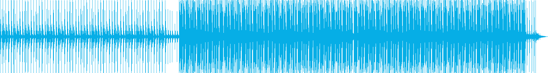 明るいハウスミュージックの再生済みの波形