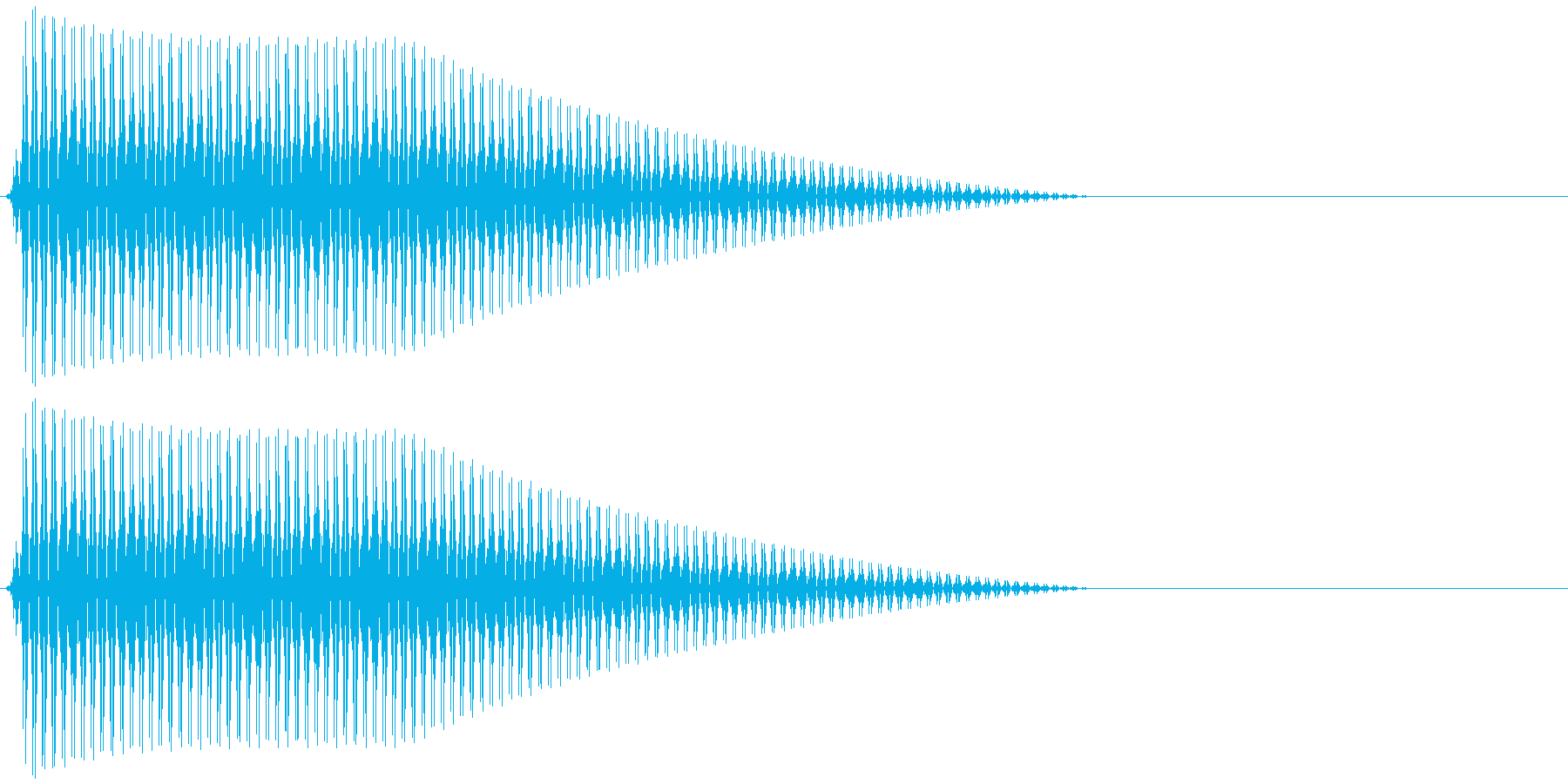 OctaveCom アプリ用タッチ音12の再生済みの波形