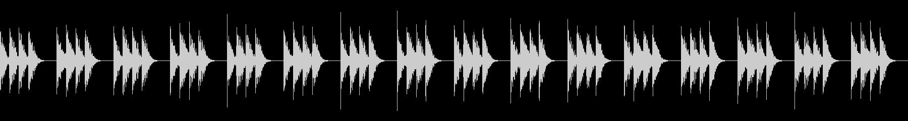 のどかな景色を思わせるヒーリング音楽の未再生の波形