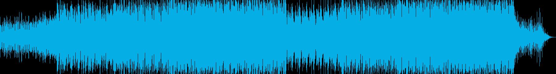 明るい曲調。重いリズムのエレクトロの再生済みの波形