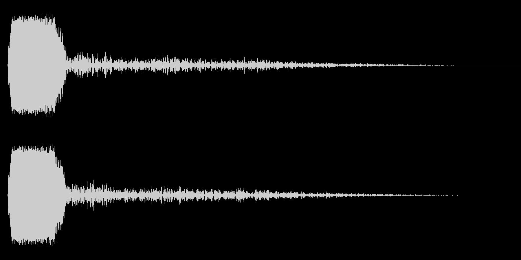 短くて高いさえずりのような音の未再生の波形