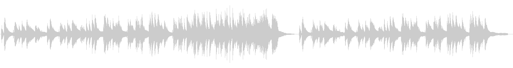 落ち着いたバーのピアノBGMの未再生の波形