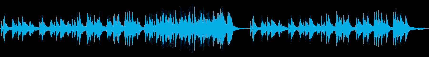 落ち着いたバーのピアノBGMの再生済みの波形