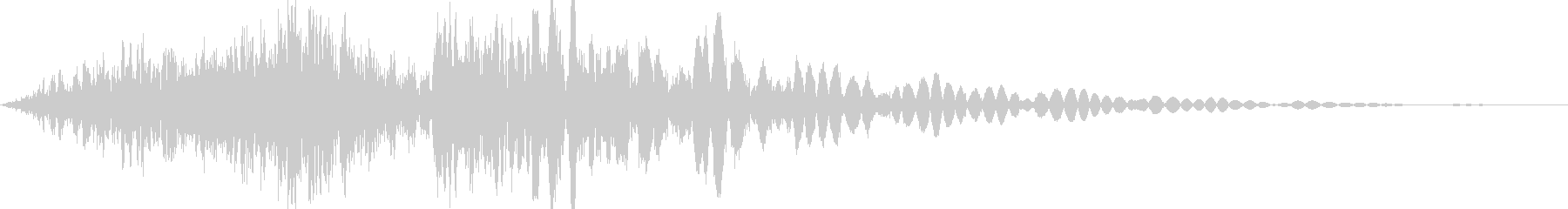 格闘ゲーム キック動作音有り ステップ1の未再生の波形
