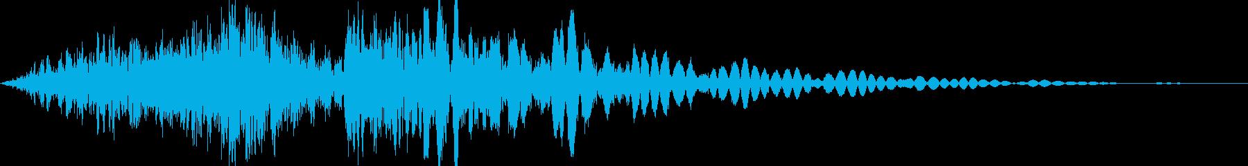 格闘ゲーム キック動作音有り ステップ1の再生済みの波形