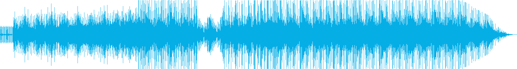 暗い雰囲気から明るくなるベルの音楽の再生済みの波形