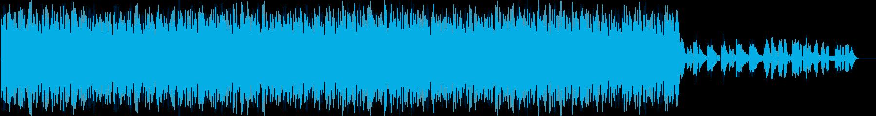 リズミカルなエレクトロニカの再生済みの波形