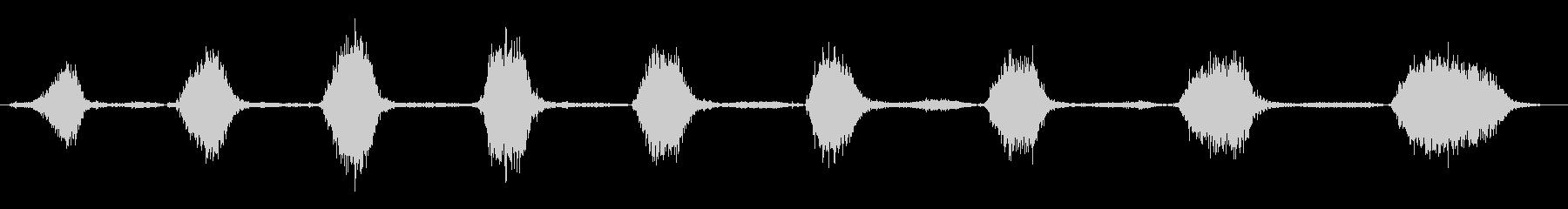 口でゴム風船を爆破:すばやく、コミ...の未再生の波形