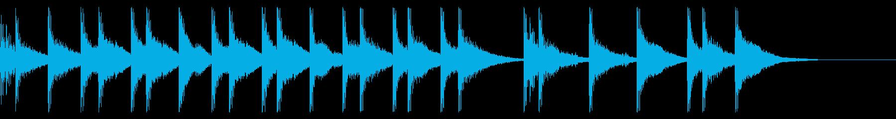 【和風ジングル】相撲っぽいヤツの再生済みの波形