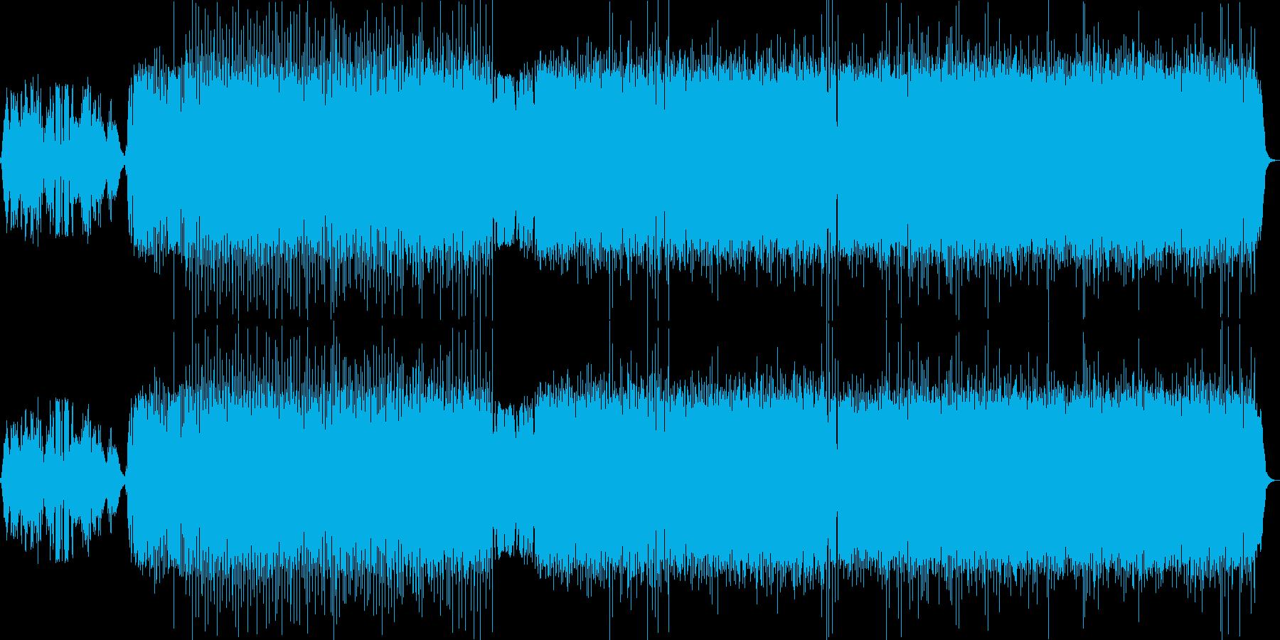 アイルランドとスコットランドの音楽の再生済みの波形