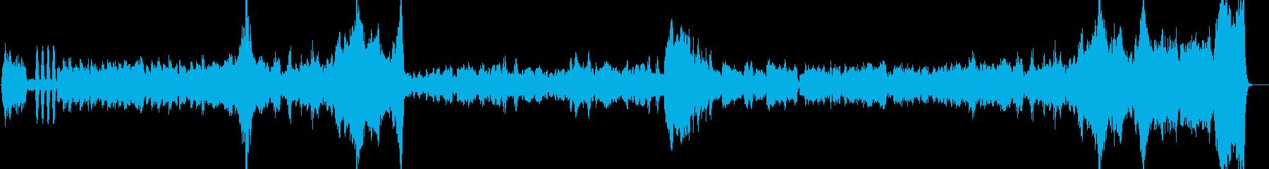 チェロをメインにした悲しい管弦楽の再生済みの波形