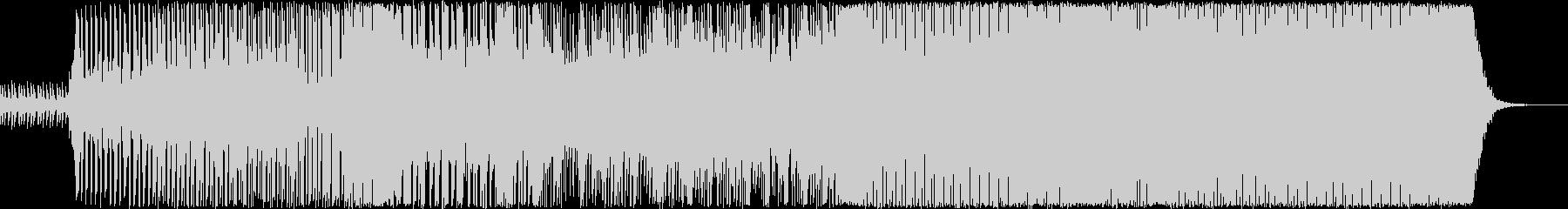 独特な曲展開のテクノの未再生の波形