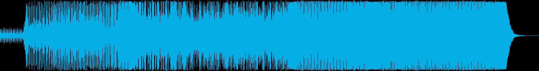 独特な曲展開のテクノの再生済みの波形