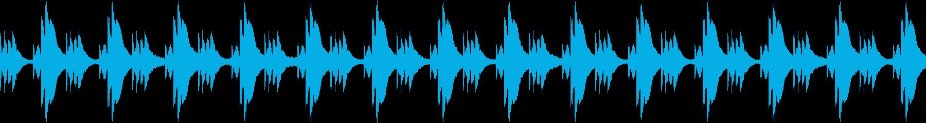瞑想のためのアンビエント3の再生済みの波形