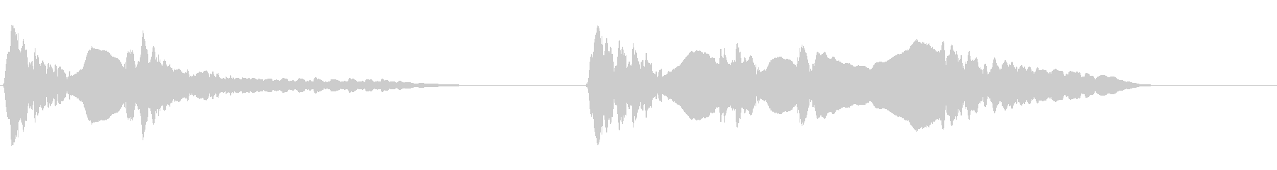 尺八 生演奏 古典風 残響音有 7の未再生の波形