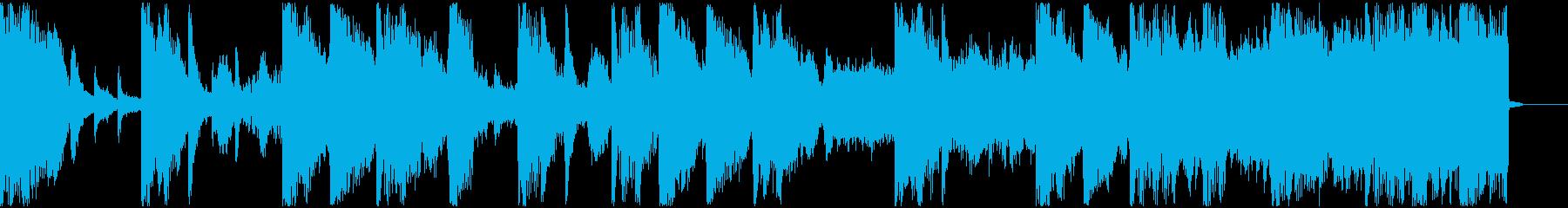 【ミステリアス】ロング1、ショート2の再生済みの波形