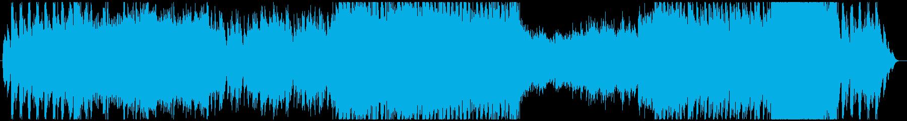 メロディが印象的なボス戦(ループ用)の再生済みの波形