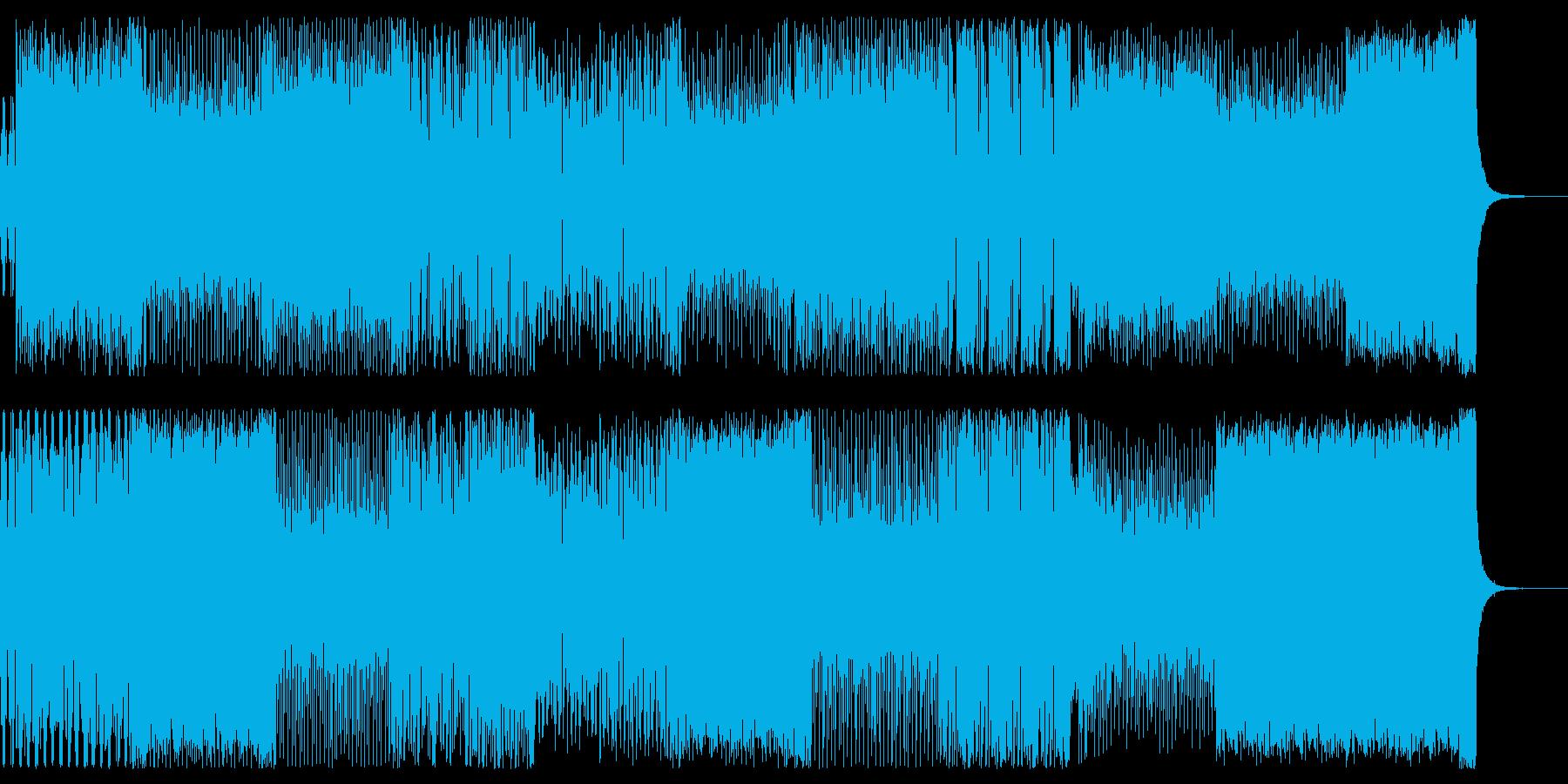90年代のディスコサウンドっぽい曲の再生済みの波形