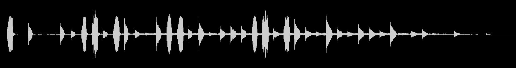短く、シンプルなスティンガー。明る...の未再生の波形