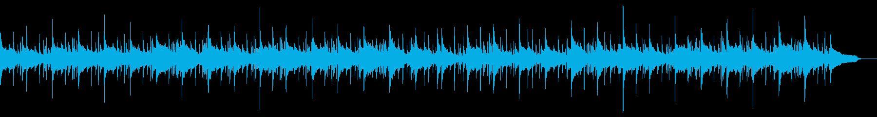 しんみりとした空間を感じるバンド調BGMの再生済みの波形