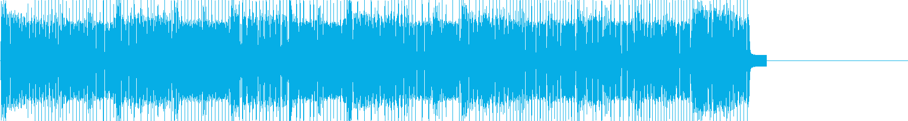 レトロゲームなチップチューンジングル16の再生済みの波形