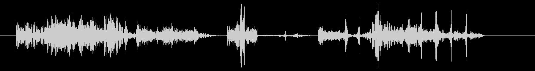 無機質っぽい印象のサウンドロゴ素材の未再生の波形