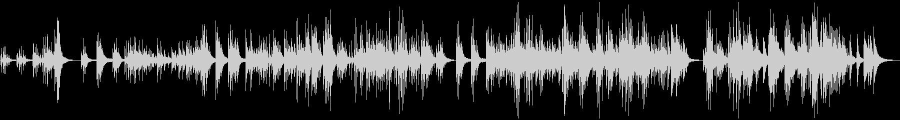 雪降る夜の物語をイメージしたピアノBGMの未再生の波形
