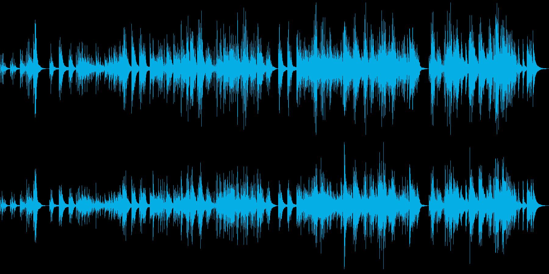 雪降る夜の物語をイメージしたピアノBGMの再生済みの波形