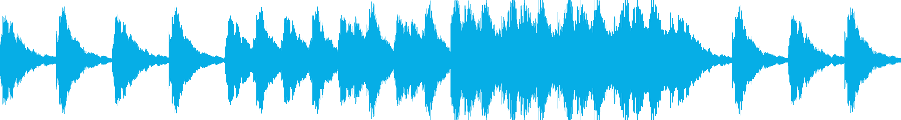【映像系】アンビエントギター調の再生済みの波形