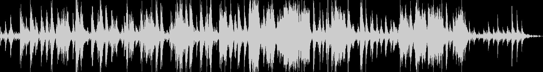 闇の彼方へをイメージしたピアノソロの未再生の波形