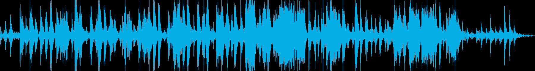 闇の彼方へをイメージしたピアノソロの再生済みの波形
