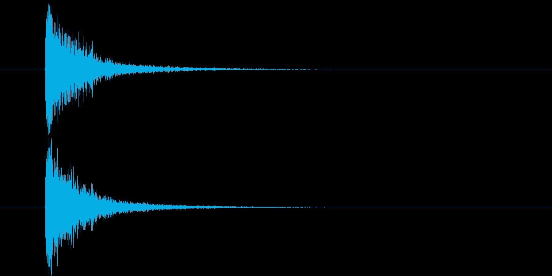スネア音_メタルコア・ラウド系の再生済みの波形