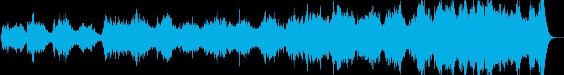 迫力ある響きでミステリアスなメロディーの再生済みの波形
