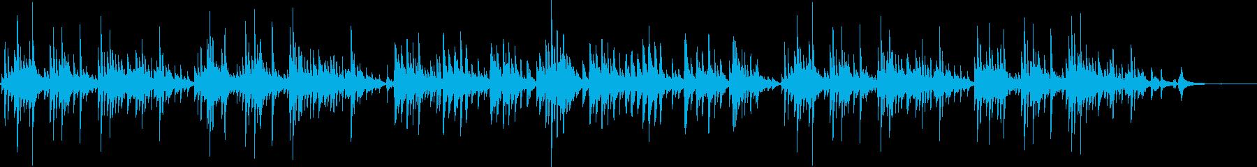 小型ギターによるオルゴールのような演奏の再生済みの波形