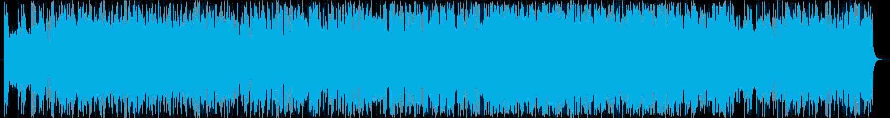 ルーズで軽快なサックスのロックの再生済みの波形
