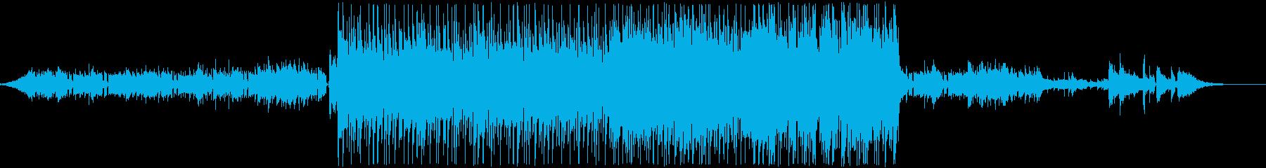 爽やかかつ力強さも感じる雰囲気のBGMの再生済みの波形