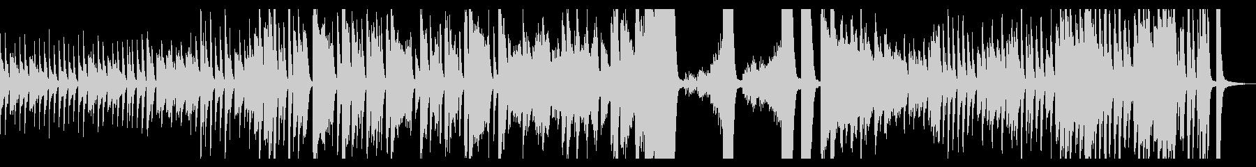 レトロ懐かしい軽快で爽やかな2台ピアノの未再生の波形