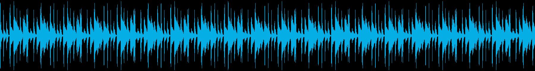 サンバ・パーカッションのループ音素材の再生済みの波形