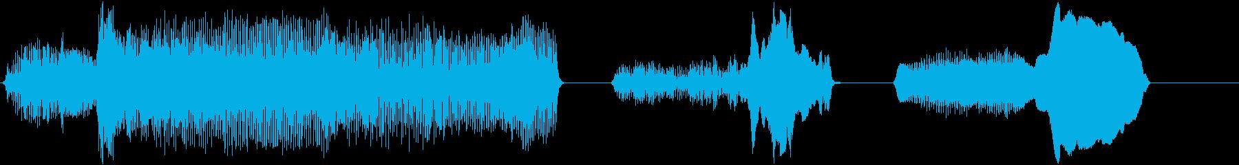 猫のうなり声;不気味で低く、リバー...の再生済みの波形