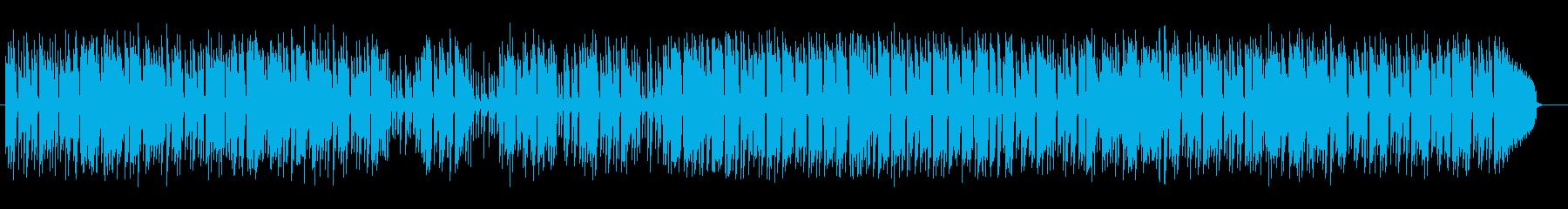 落ち着いた明るさのあるミュージックの再生済みの波形