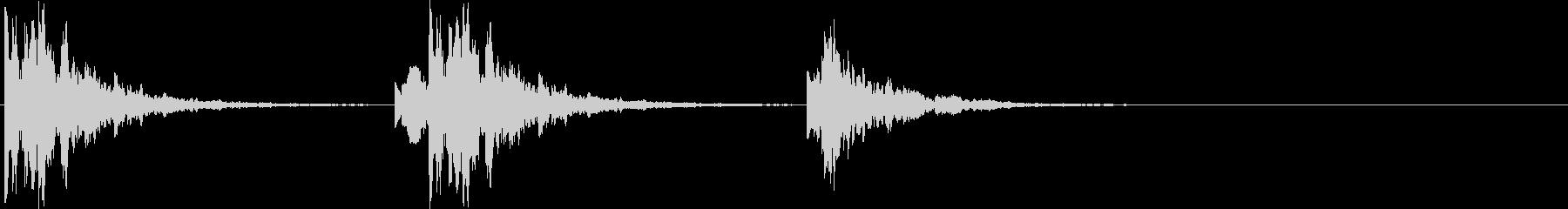ポタポタ..。洞窟の水滴(高・短)の未再生の波形