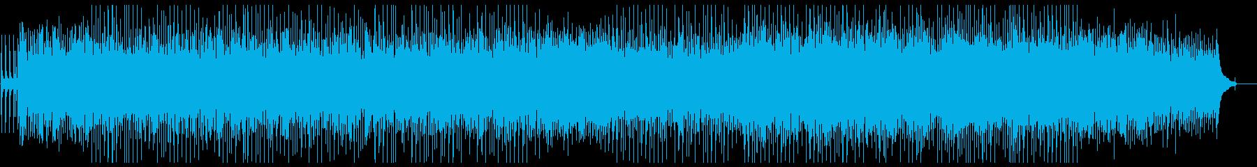 楽しい沖縄風楽曲の再生済みの波形