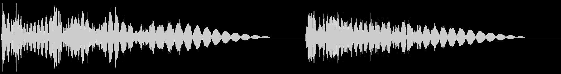 ドガッバッ(2連打撃と強撃1撃)の未再生の波形