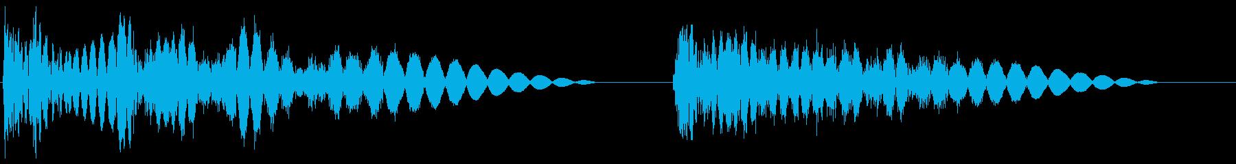 ドガッバッ(2連打撃と強撃1撃)の再生済みの波形