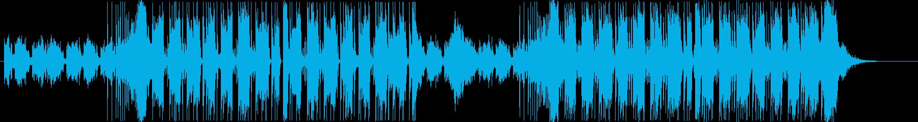近未来的なシンセサウンドの再生済みの波形