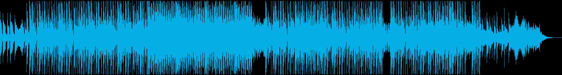 アンビエントなギターのクールなテクノの再生済みの波形